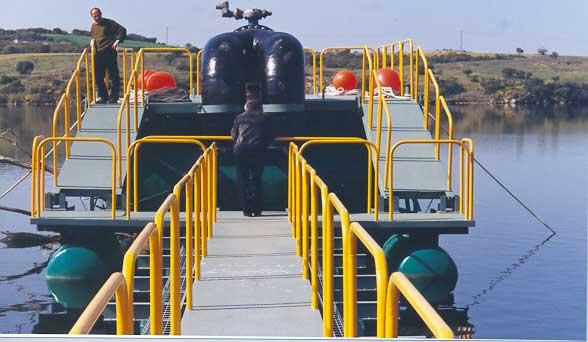 Sistema de captación de aguas de pantano a estación de impulsión