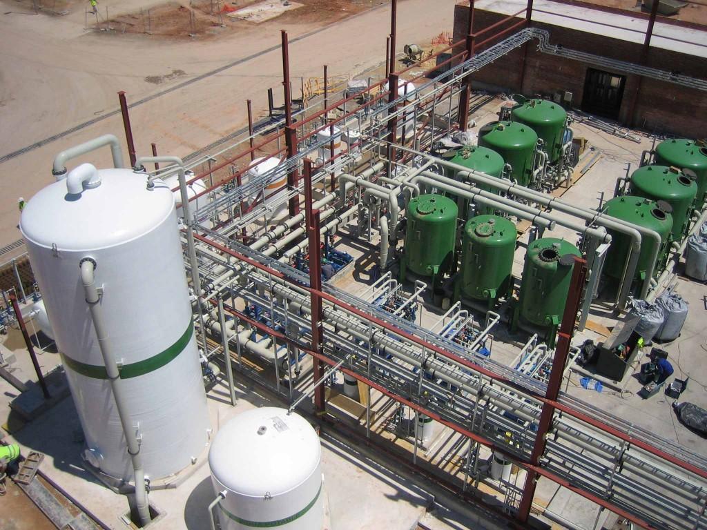 Planta de tratamiento de agua en central térmica de ciclo combinado