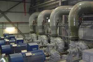 Piping system for desulphurisation plant
