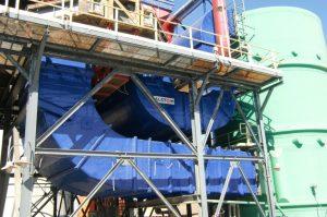 Sistema de conductos rectangulares para sistema de desulfuración