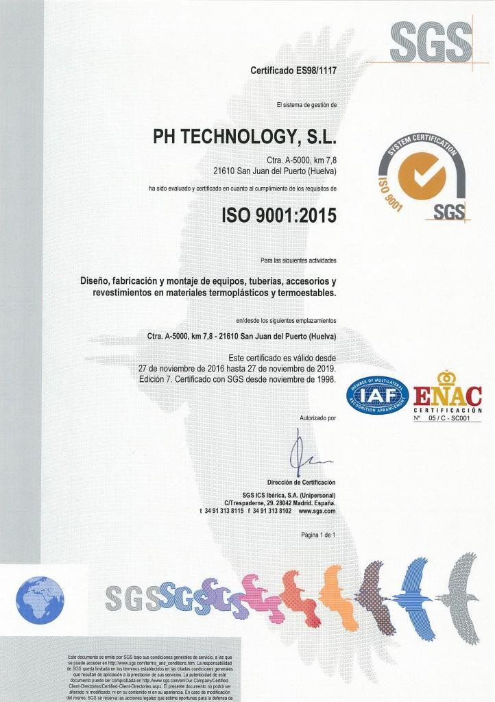 certificado ISO 9001-2015 (español) hasta 2019
